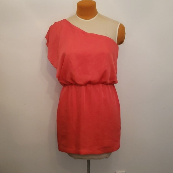 City Triangles Dresses & Skirts - Coral one shoulder dress